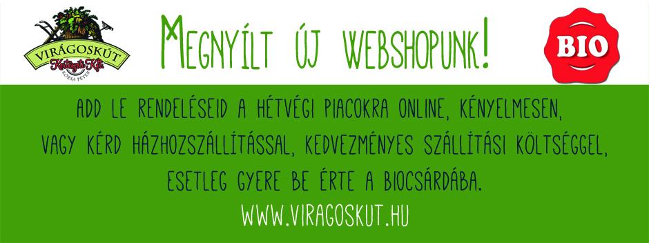 Megnyílt az Új webshop