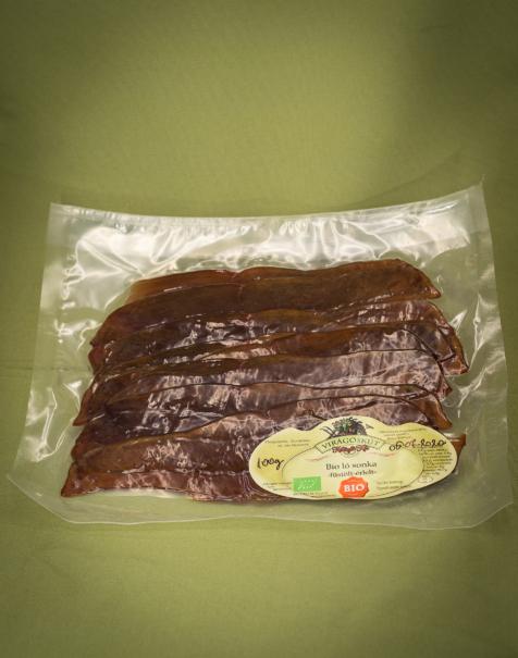 Bio ló comb, szeletelt 100g -füstölt-