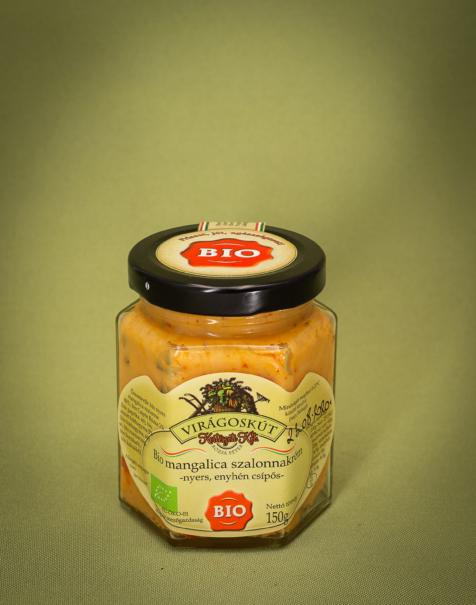 Bio mangalica szalonnakrém (fűszeres zsír) 150g -enyhén csípős-