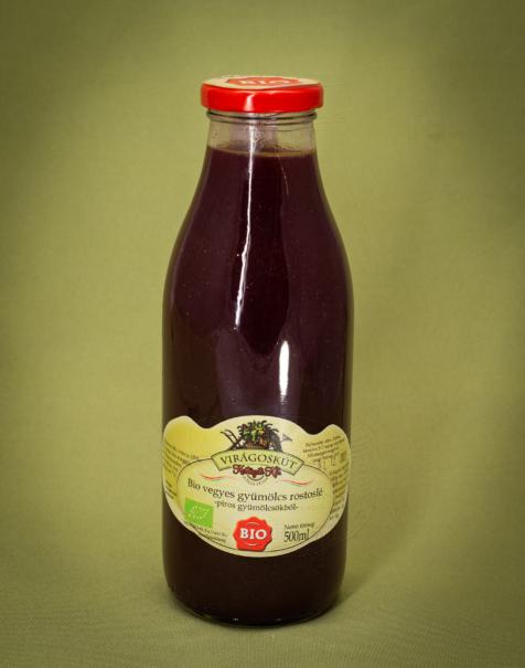 Bio vegyes gyümölcs rostoslé 500ml -piros gyümölcsökből-
