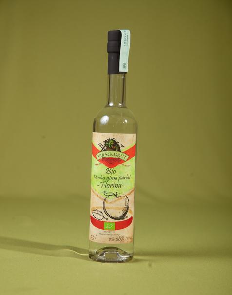 Bio mentás alma párlat -Florina- 500ml 46%, díszdobozban