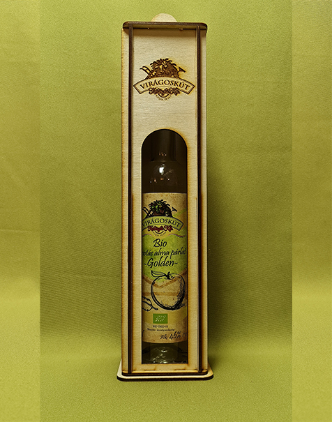 Bio mentás alma párlat -Golden- 500ml 46%, díszdobozban