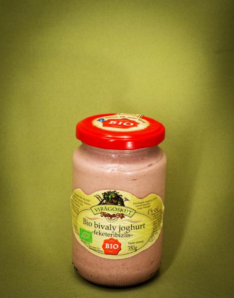 Bio bivaly joghurt 350g -feketeribizlis-
