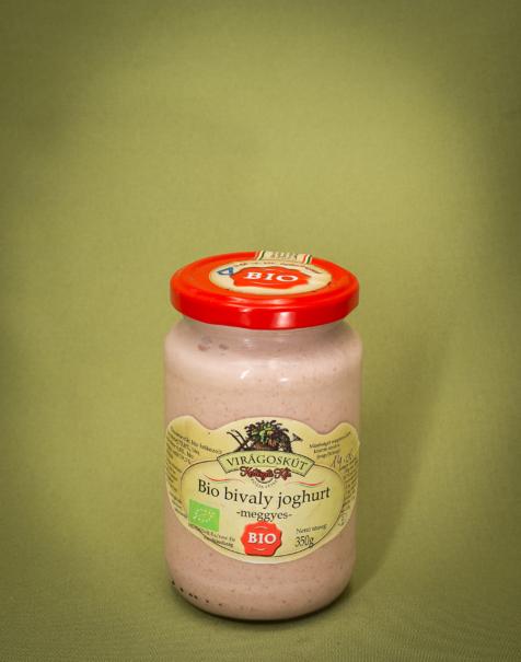 Bio bivaly joghurt 350g -meggyes-