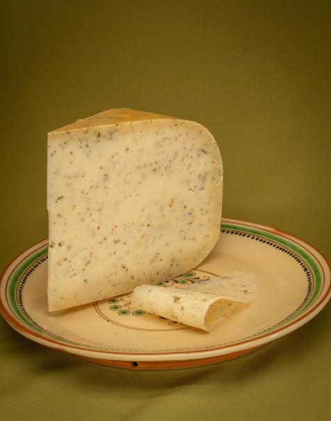 Bio érlelt félkemény sajt -provance-i fokhagymás-