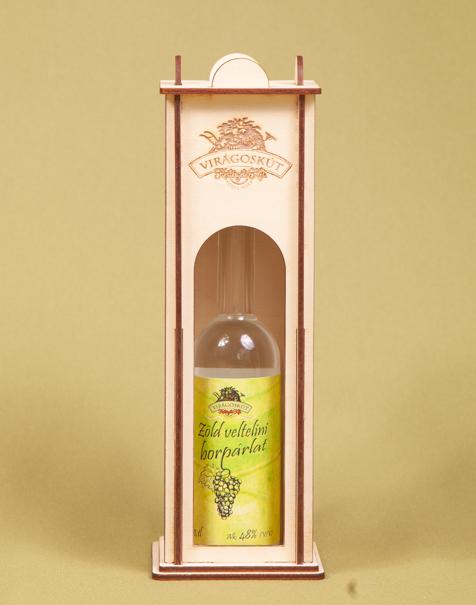 Zöld veltelini borpárlat 100ml 48%, dísztartóban