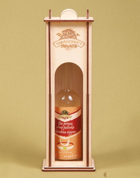Bio prima alma pálinka -bőralma ágyon- 44% 100ml, díszdobozban