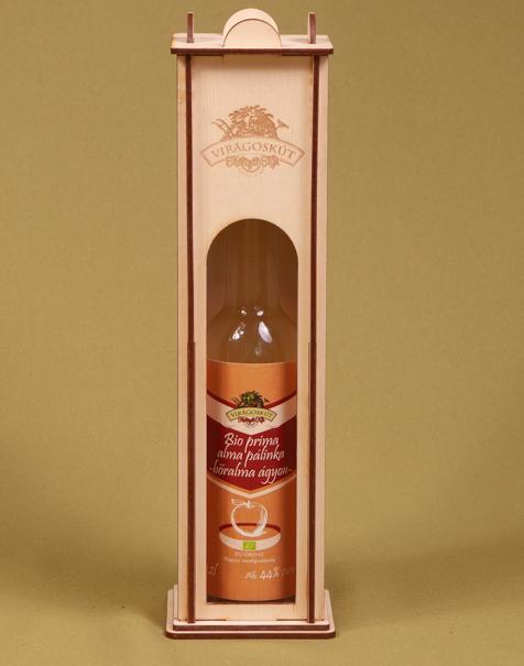 Bio prima alma pálinka -bőralma ágyon- 44% 200ml, díszdobozban