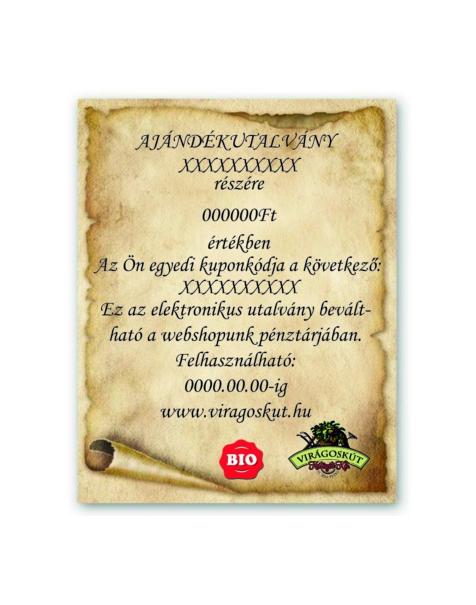 Ajándék utalvány 20000Ft értékben